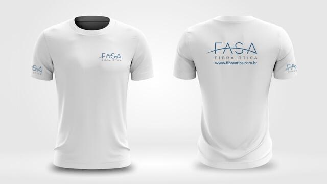 imagem de camisetas com a nova identidade visual da FASA